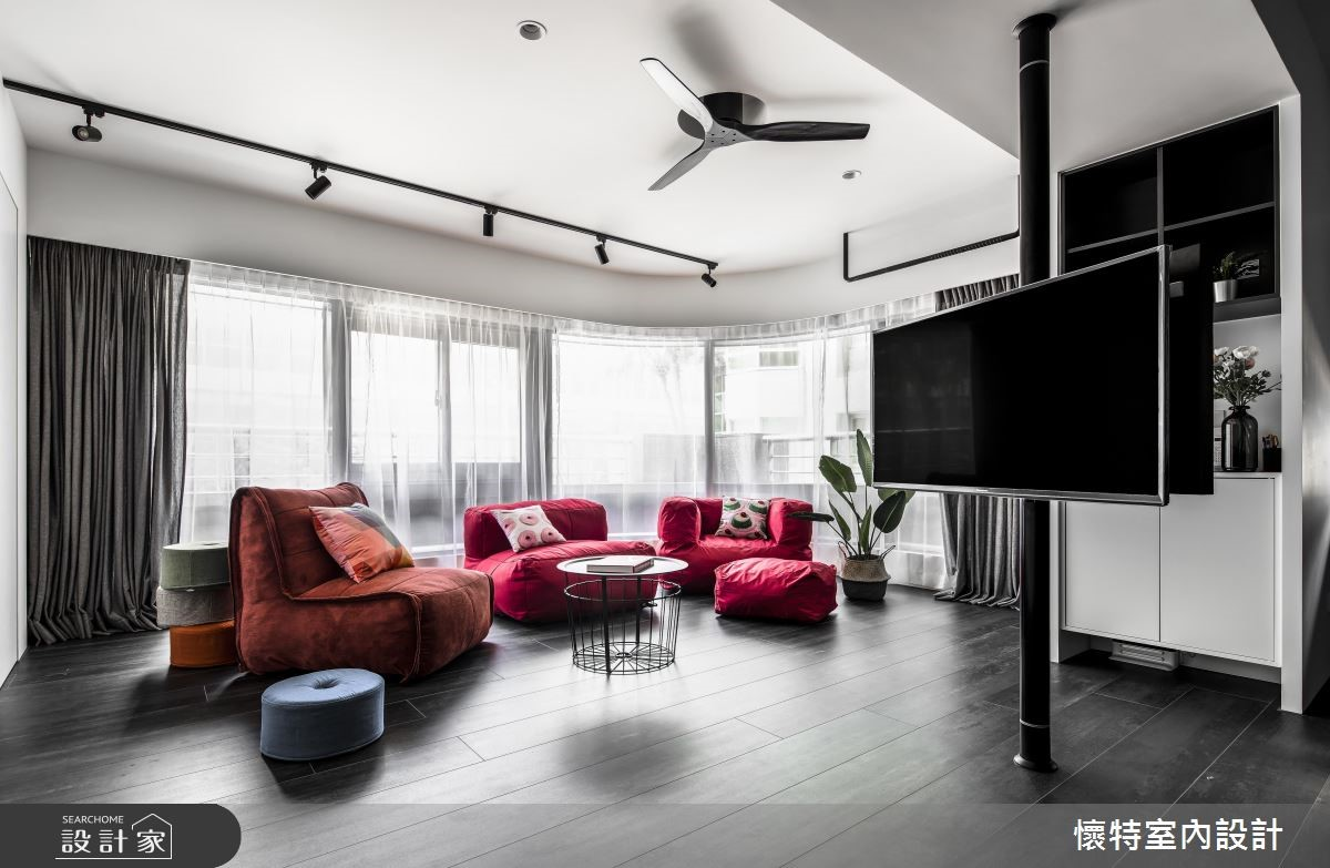 35坪老屋(16~30年)_現代風客廳案例圖片_懷特室內設計_懷特_38之2