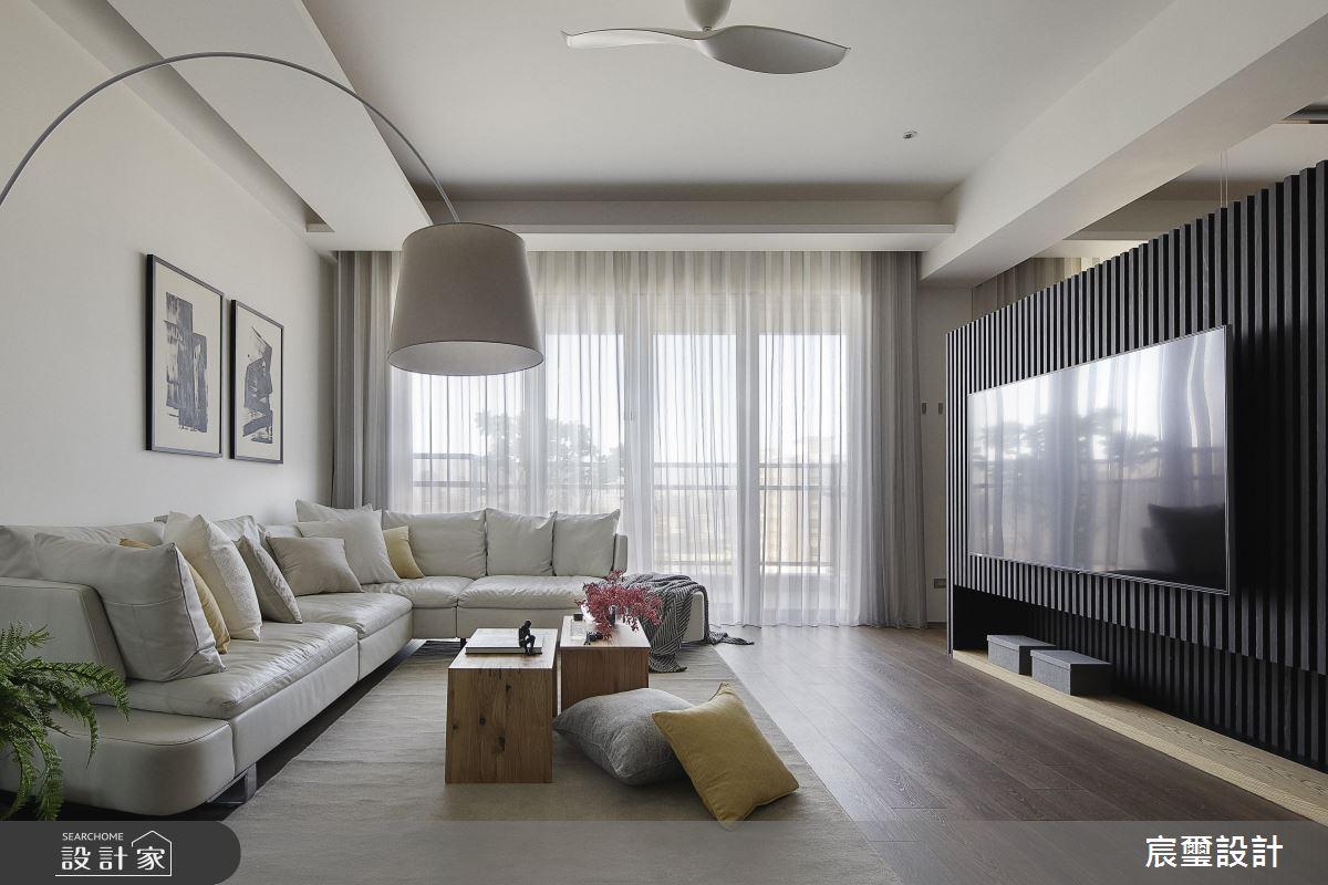 心機收納櫃假扮電視牆!空間感、好動線都滿分的全方位住宅