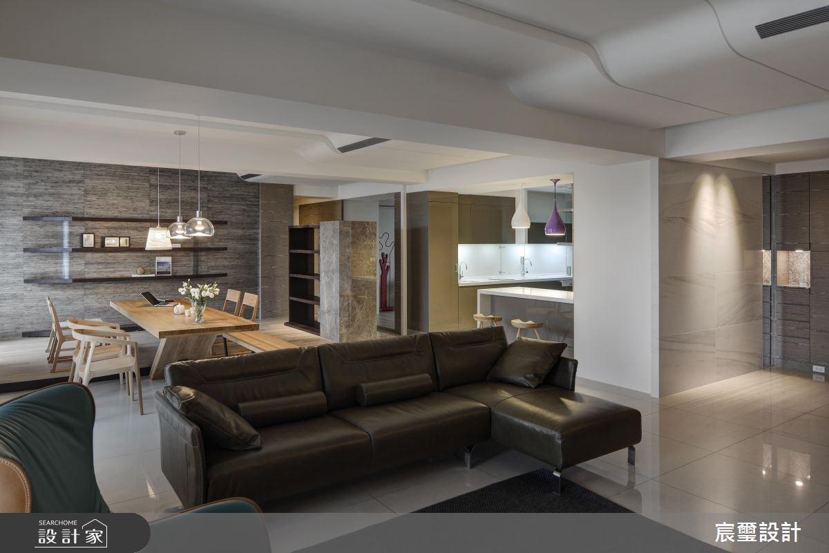 50坪新成屋(5年以下)_現代風客廳案例圖片_宸璽設計_宸璽_07之1