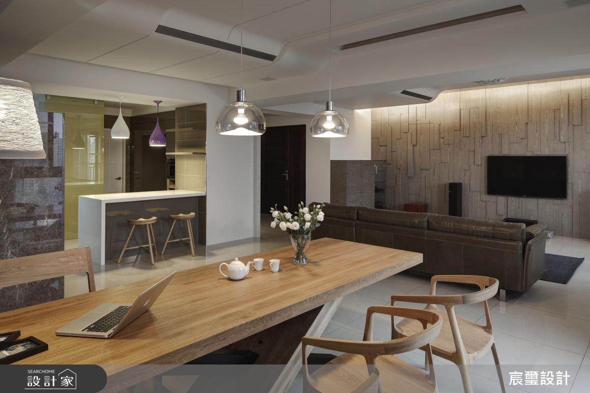 50坪新成屋(5年以下)_現代風客廳餐廳案例圖片_宸璽設計_宸璽_07之2