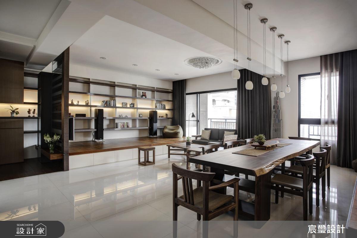 40坪新成屋(5年以下)_混搭風客廳餐廳和室案例圖片_宸璽設計_宸璽_08之6