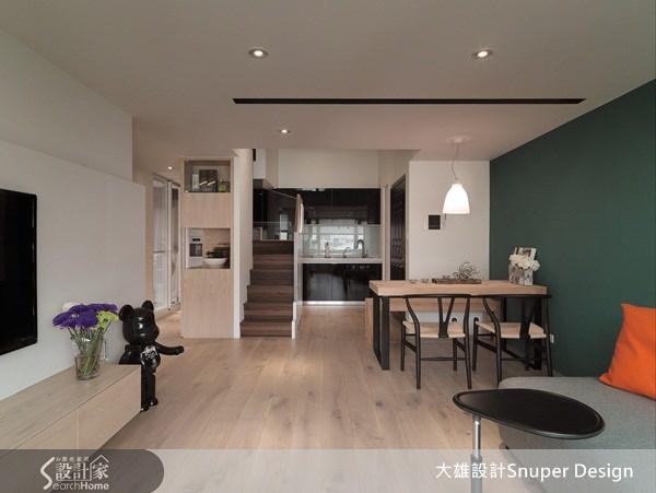 28坪中古屋(5~15年)_北歐風客廳餐廳案例圖片_大雄室內設計Snuper Design_大雄_10之4