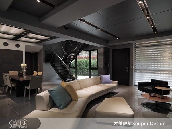 65坪新成屋(5年以下)_工業風客廳餐廳樓梯案例圖片_大雄室內設計Snuper Design_大雄_19之2