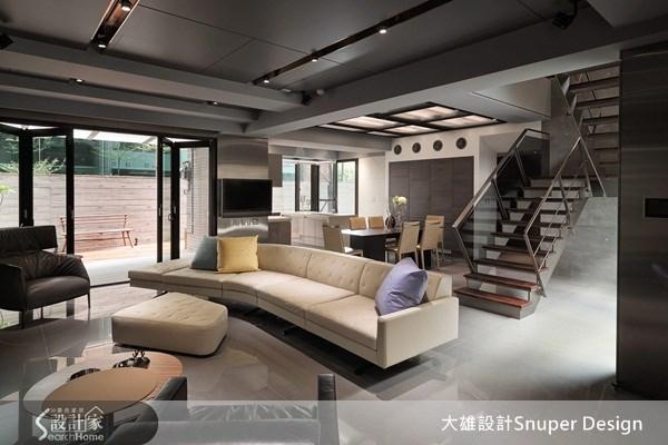 65坪新成屋(5年以下)_工業風客廳餐廳樓梯案例圖片_大雄室內設計Snuper Design_大雄_19之3
