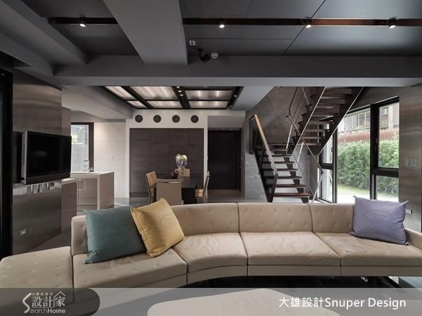 65坪新成屋(5年以下)_工業風客廳餐廳樓梯案例圖片_大雄室內設計Snuper Design_大雄_19之1
