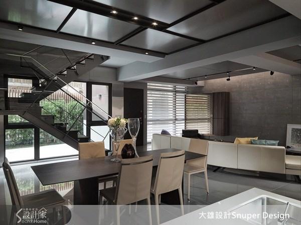65坪新成屋(5年以下)_工業風客廳餐廳樓梯案例圖片_大雄室內設計Snuper Design_大雄_19之4