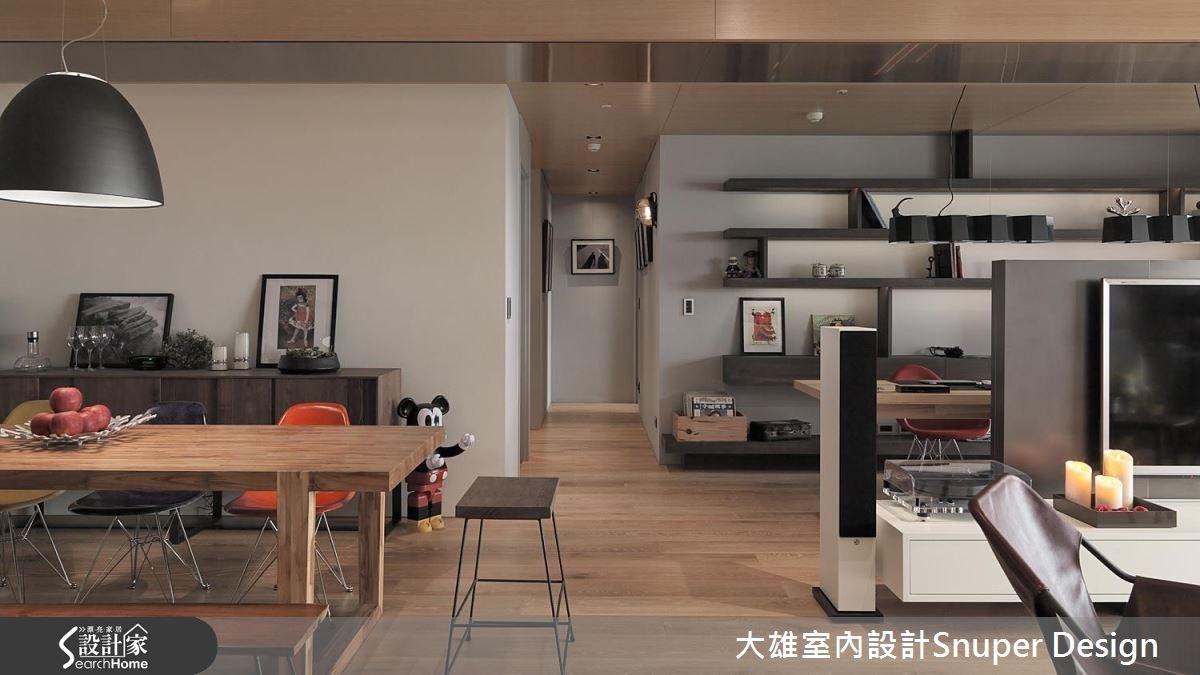 45坪新成屋(5年以下)_現代風客廳餐廳走廊案例圖片_大雄室內設計Snuper Design_大雄_24之2