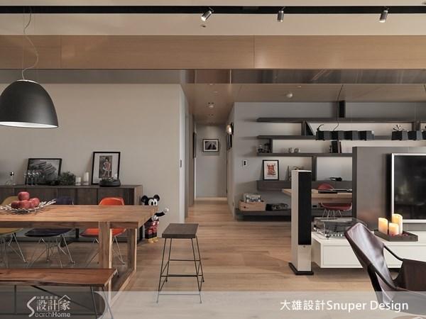 45坪新成屋(5年以下)_現代風客廳餐廳走廊案例圖片_大雄室內設計Snuper Design_大雄_24之3