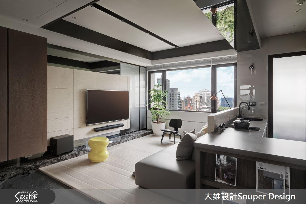 22坪新成屋(5年以下)_現代風客廳廚房吧檯案例圖片_大雄室內設計Snuper Design_大雄_41之5