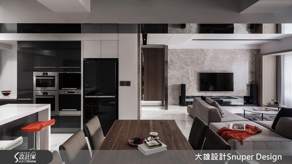 40坪中古屋(5~15年)_現代風客廳廚房吧檯案例圖片_大雄室內設計Snuper Design_大雄_46之1