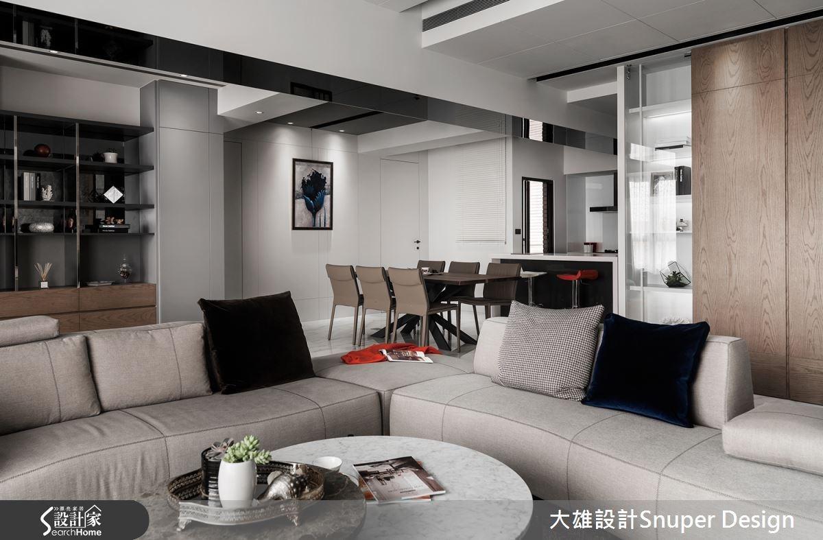 40坪中古屋(5~15年)_現代風客廳餐廳吧檯案例圖片_大雄室內設計Snuper Design_大雄_46之6