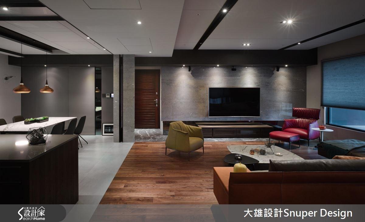 50坪新成屋(5年以下)_現代風客廳餐廳案例圖片_大雄室內設計Snuper Design_大雄_50之4