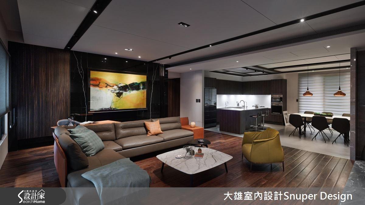 50坪新成屋(5年以下)_現代風客廳餐廳廚房吧檯案例圖片_大雄室內設計Snuper Design_大雄_50之1