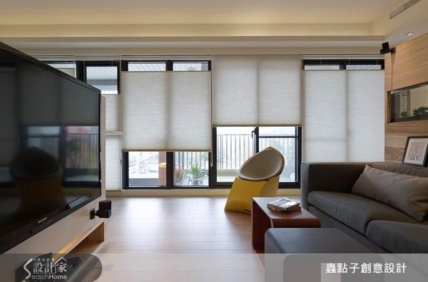 30坪新成屋(5年以下)_簡約風客廳案例圖片_蟲點子創意設計_蟲點子_15之2
