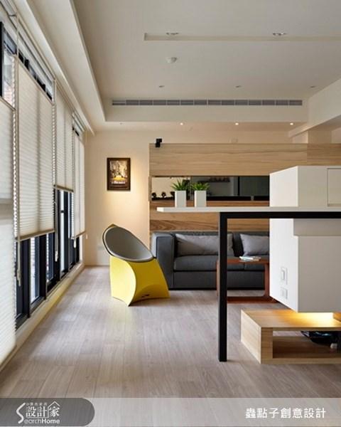 30坪新成屋(5年以下)_簡約風客廳案例圖片_蟲點子創意設計_蟲點子_15之3