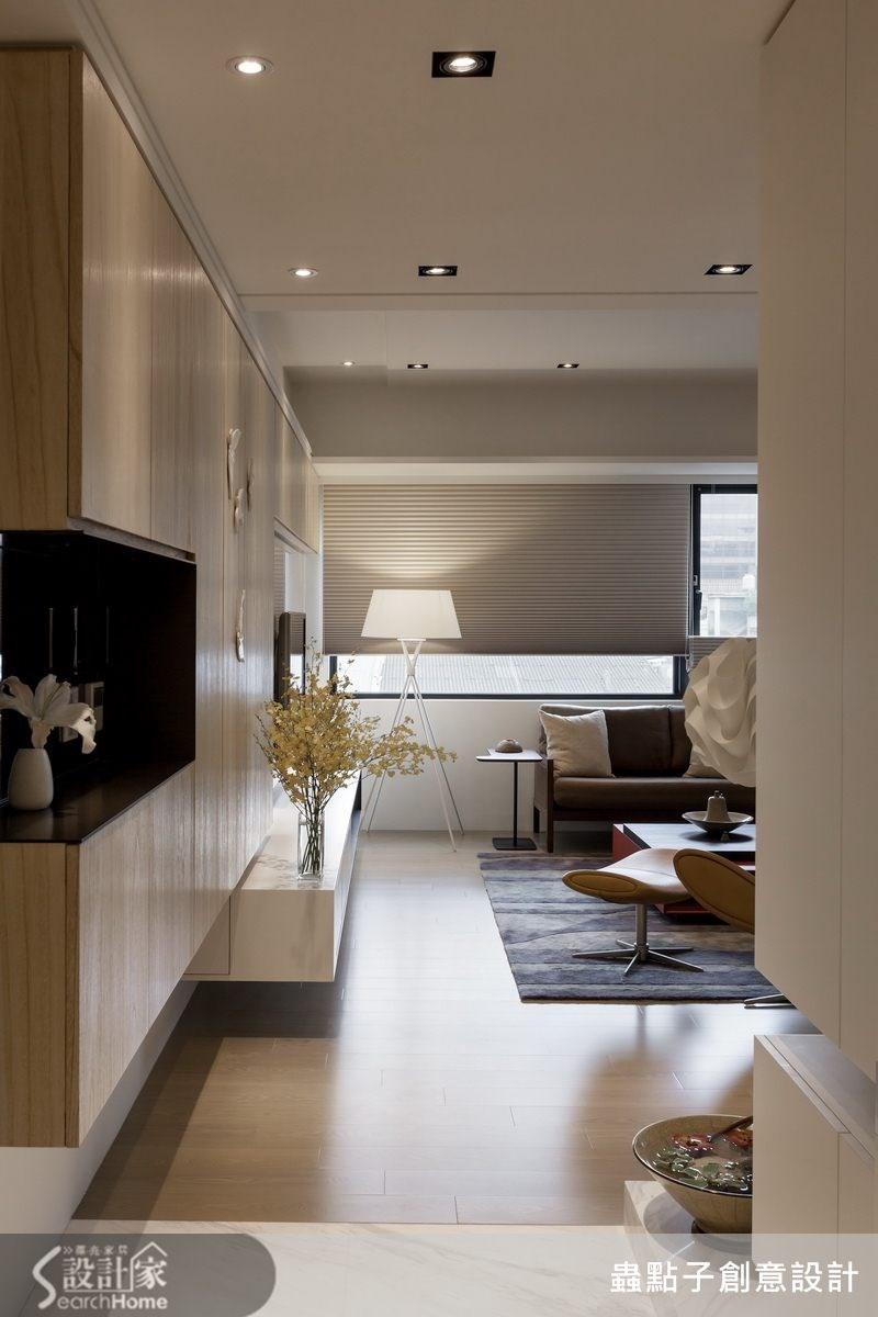 40坪新成屋(5年以下)_簡約風客廳案例圖片_蟲點子創意設計_蟲點子_24之1