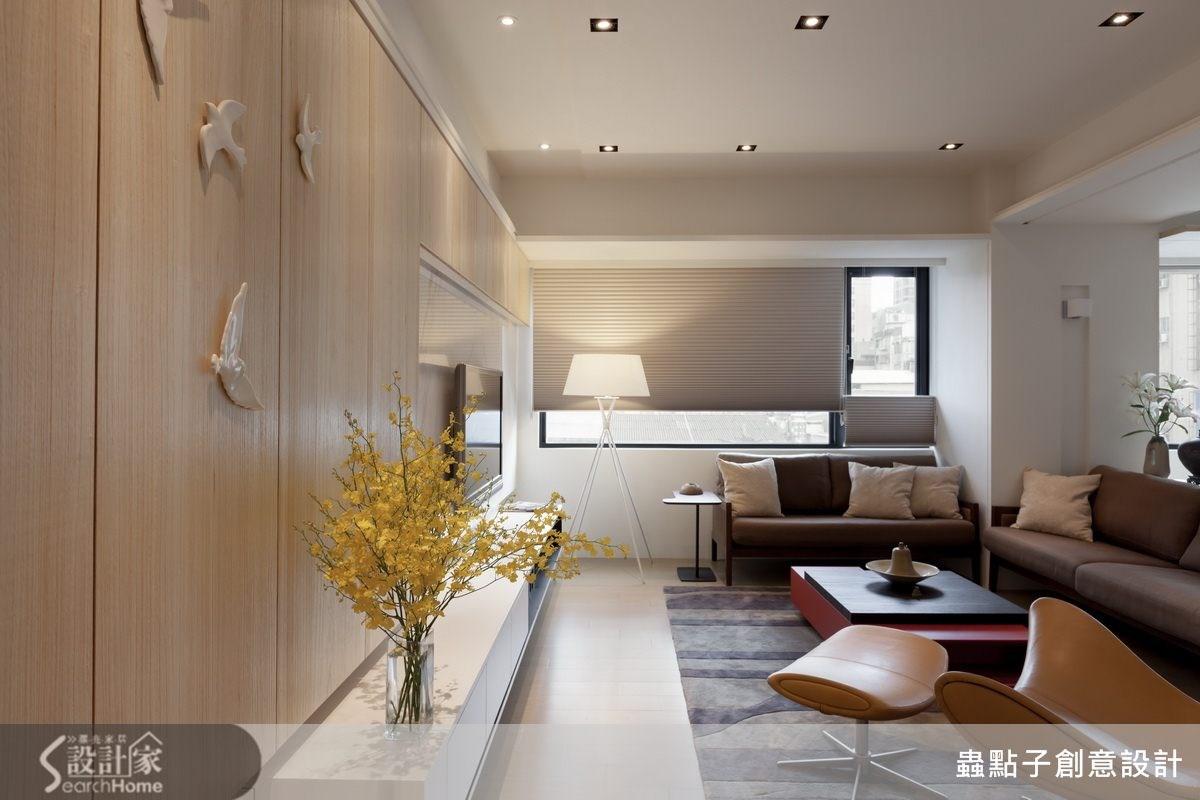 40坪新成屋(5年以下)_簡約風客廳案例圖片_蟲點子創意設計_蟲點子_24之4