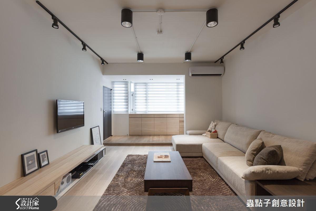 28坪老屋(16~30年)_北歐風客廳案例圖片_蟲點子創意設計_蟲點子_31之3