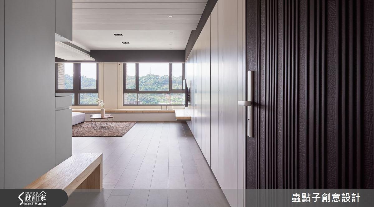 40坪新成屋(5年以下)_簡約風走廊案例圖片_蟲點子創意設計_蟲點子_38之1