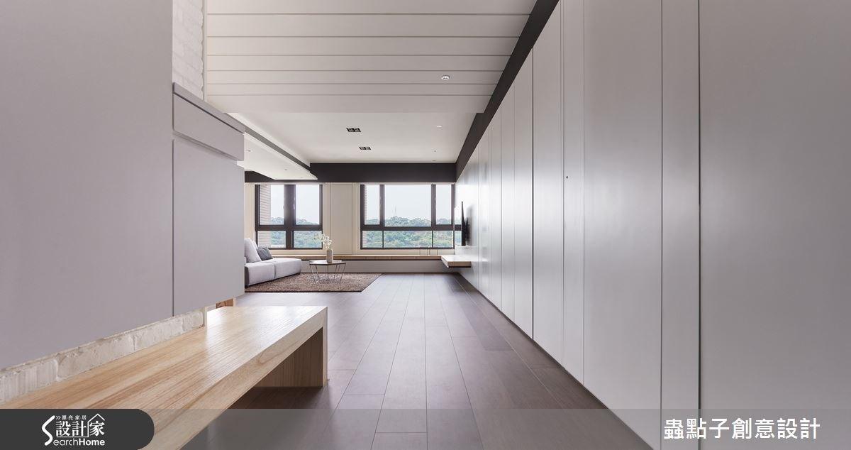 40坪新成屋(5年以下)_簡約風走廊案例圖片_蟲點子創意設計_蟲點子_38之2