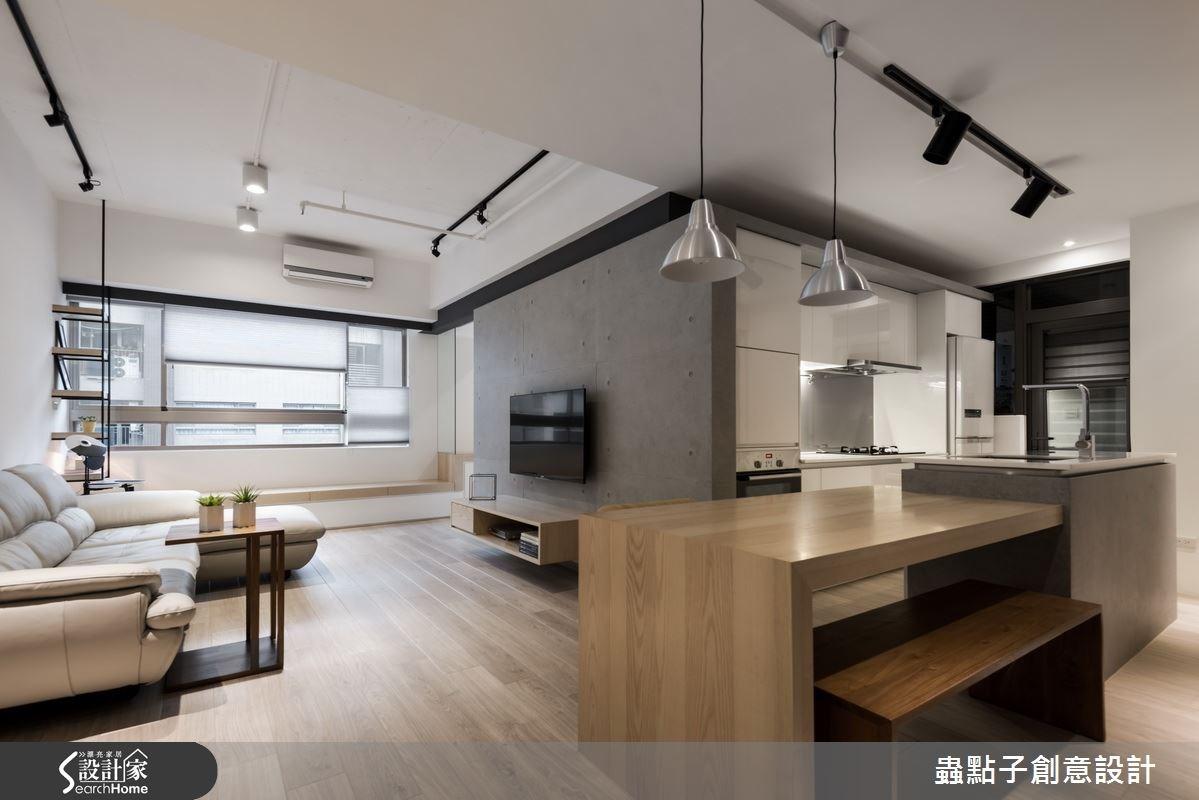 18坪中古屋(5~15年)_簡約風客廳案例圖片_蟲點子創意設計_蟲點子_40之4