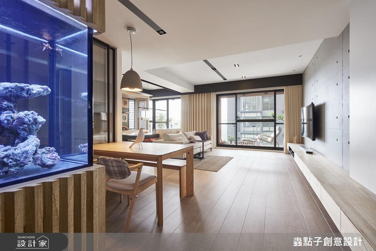 45坪新成屋(5年以下)_簡約風餐廳案例圖片_蟲點子創意設計_蟲點子_49之3