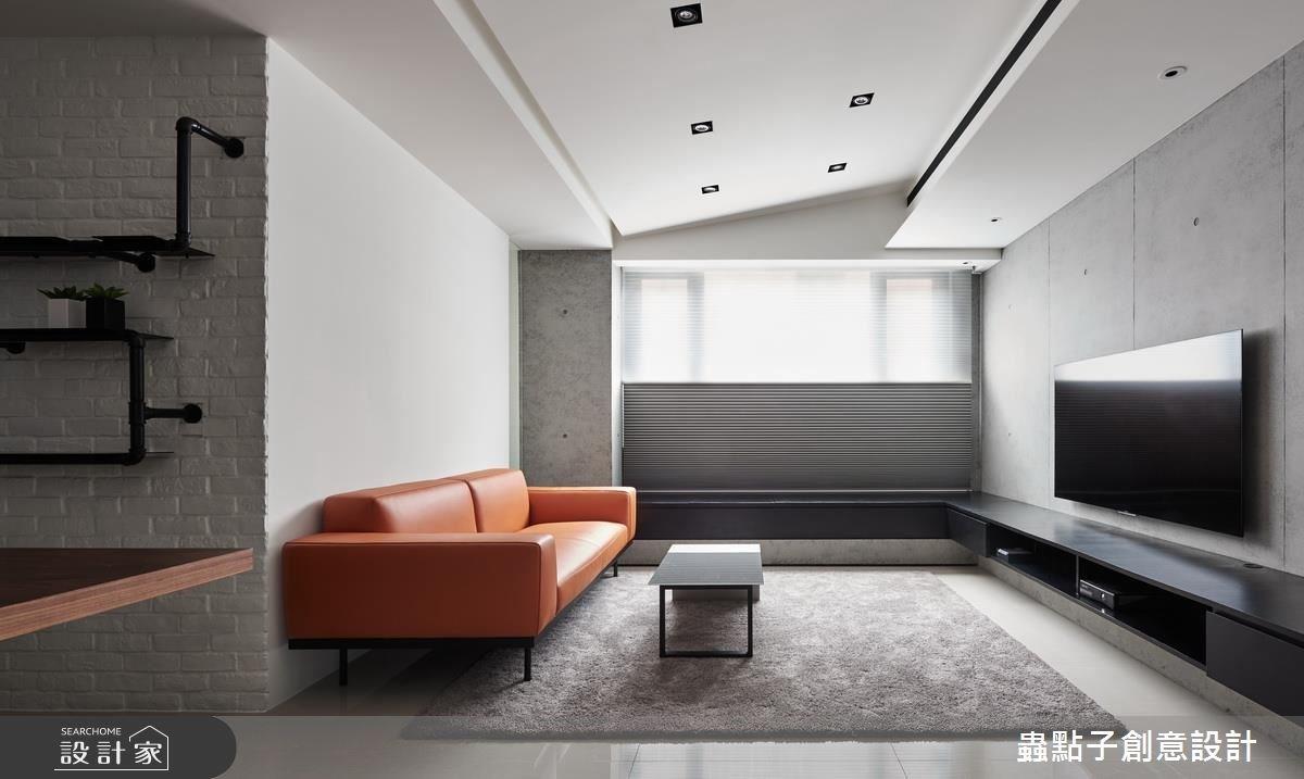 22坪老屋(16~30年)_簡約風客廳案例圖片_蟲點子創意設計_蟲點子_52之4