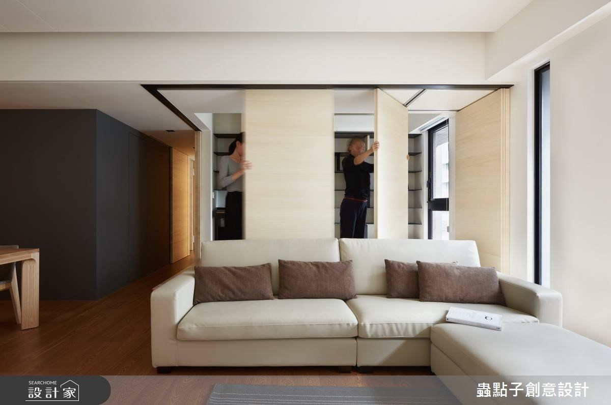 30坪新成屋(5年以下)_療癒風客廳案例圖片_蟲點子創意設計_蟲點子_53之4