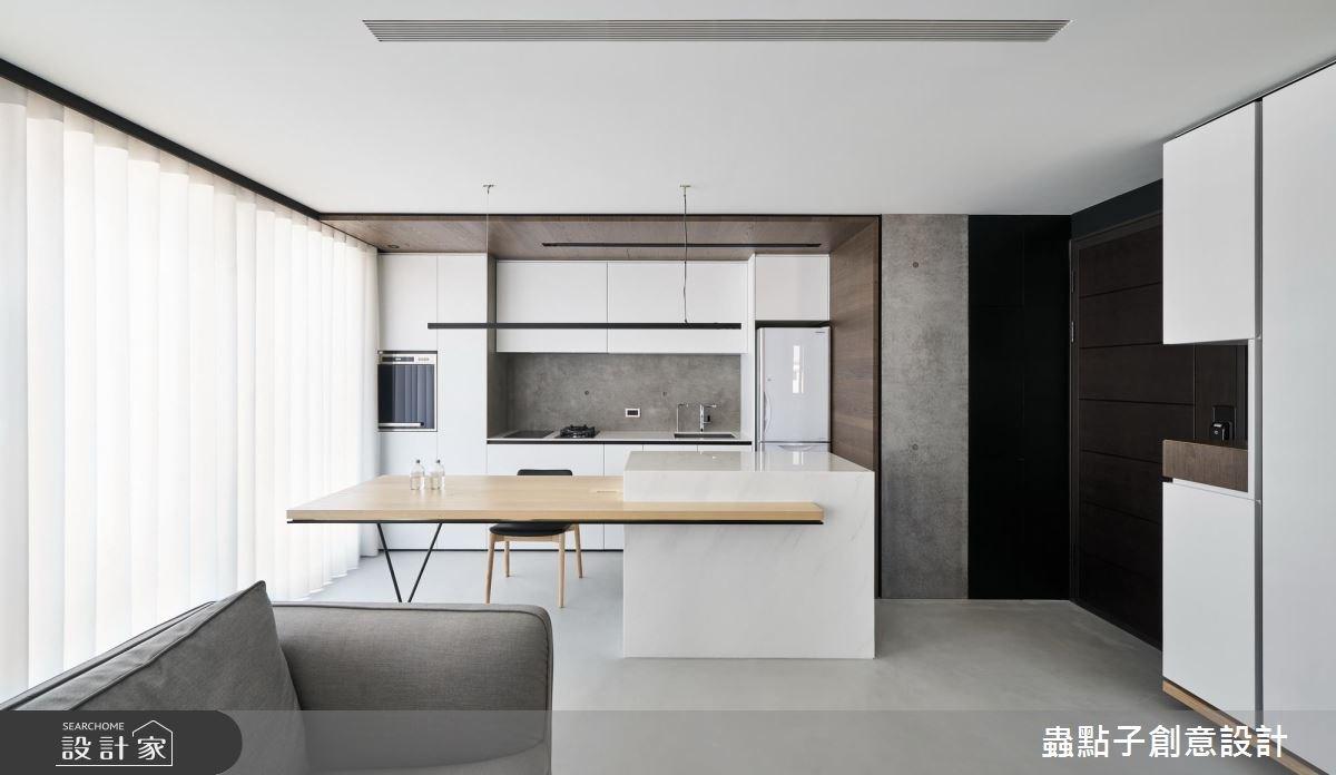 14坪新成屋(5年以下)_北歐風餐廳廚房吧檯案例圖片_蟲點子創意設計_蟲點子_55之1