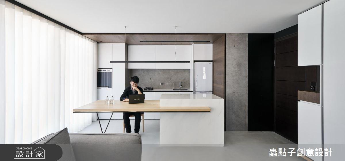 14坪新成屋(5年以下)_北歐風餐廳廚房吧檯案例圖片_蟲點子創意設計_蟲點子_55之2