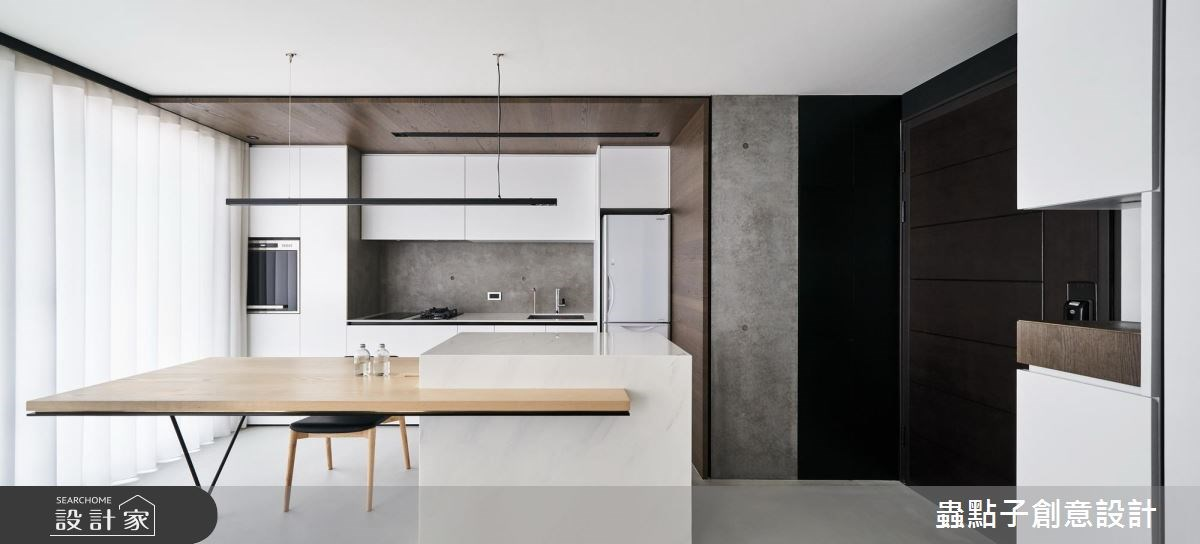 14坪新成屋(5年以下)_北歐風餐廳廚房吧檯案例圖片_蟲點子創意設計_蟲點子_55之3