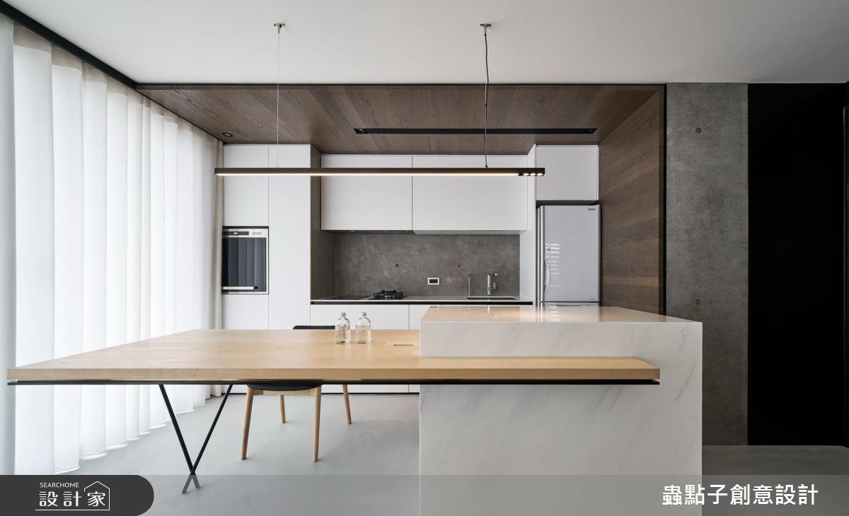 14坪新成屋(5年以下)_北歐風餐廳廚房吧檯案例圖片_蟲點子創意設計_蟲點子_55之4