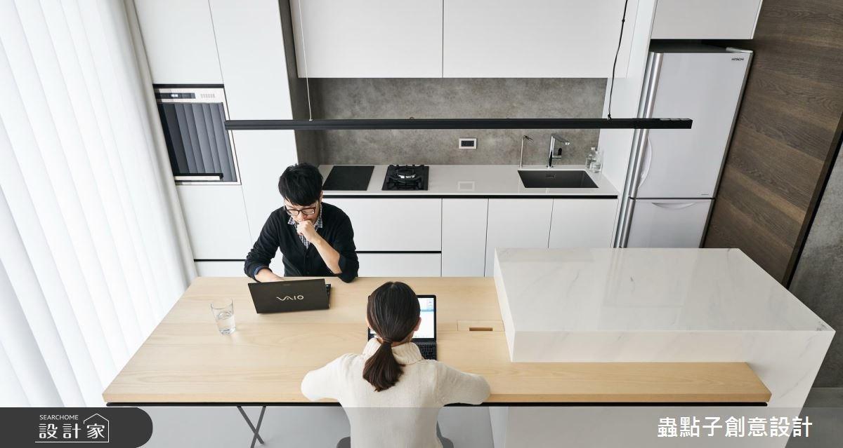 14坪新成屋(5年以下)_北歐風餐廳廚房吧檯案例圖片_蟲點子創意設計_蟲點子_55之6