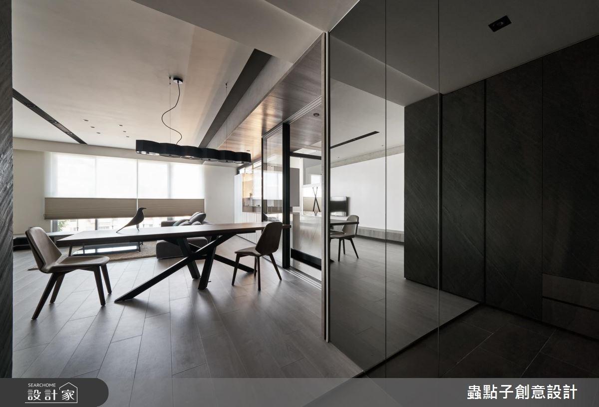 40坪新成屋(5年以下)_簡約風客廳案例圖片_蟲點子創意設計_蟲點子_58之2