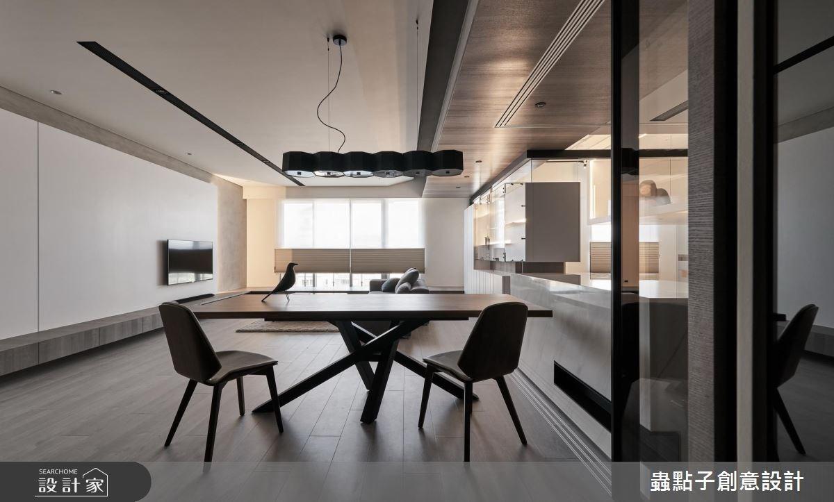 40坪新成屋(5年以下)_簡約風客廳餐廳吧檯案例圖片_蟲點子創意設計_蟲點子_58之4