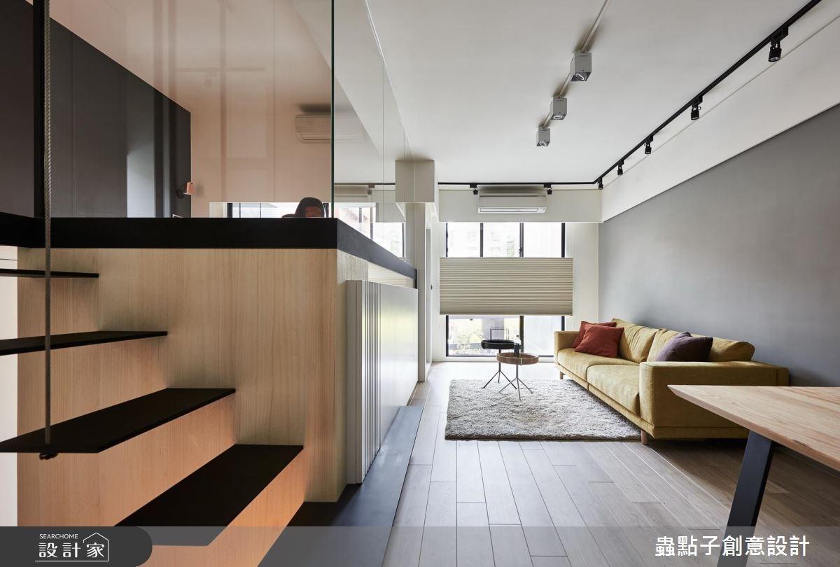 10坪新成屋(5年以下)_簡約風客廳樓梯閣樓多功能室案例圖片_蟲點子創意設計_蟲點子_61之2