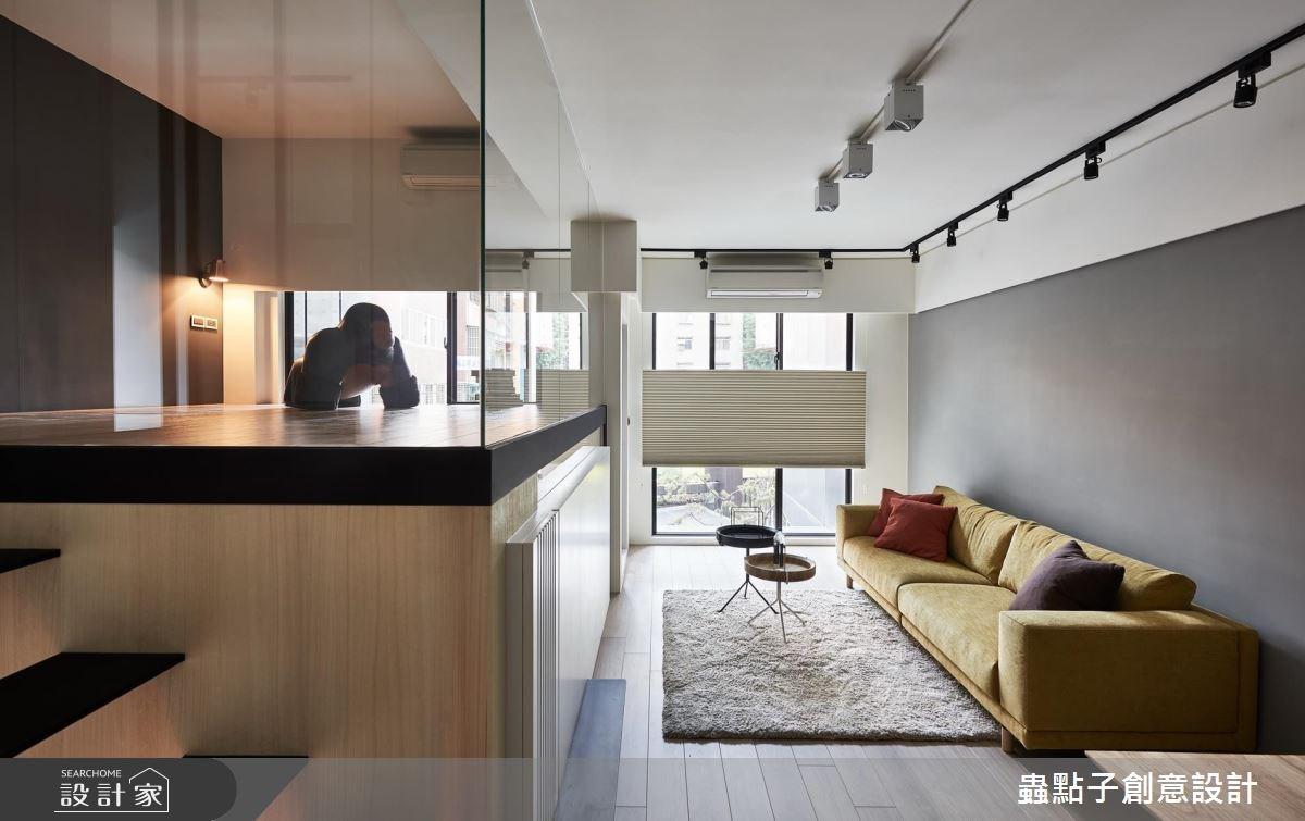 10坪新成屋(5年以下)_簡約風客廳樓梯閣樓多功能室案例圖片_蟲點子創意設計_蟲點子_61之3