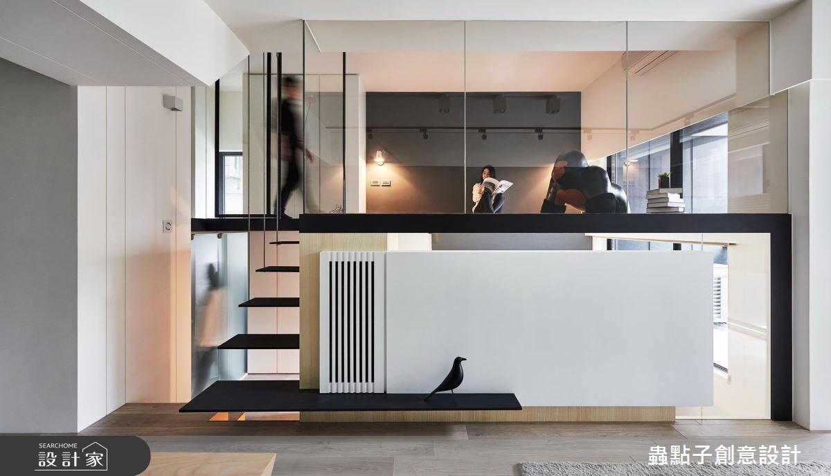 10坪新成屋(5年以下)_簡約風樓梯閣樓多功能室案例圖片_蟲點子創意設計_蟲點子_61之4