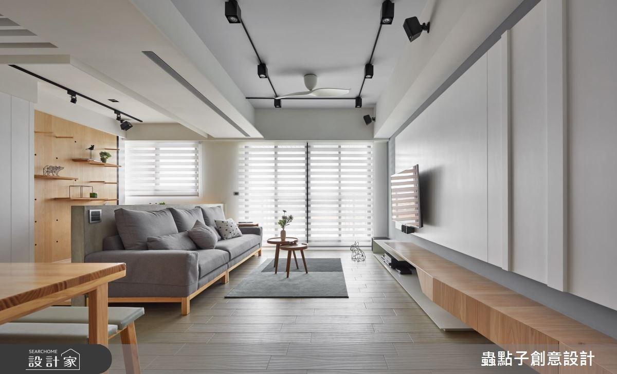 22坪新成屋(5年以下)_北歐風客廳案例圖片_蟲點子創意設計_蟲點子_63之4