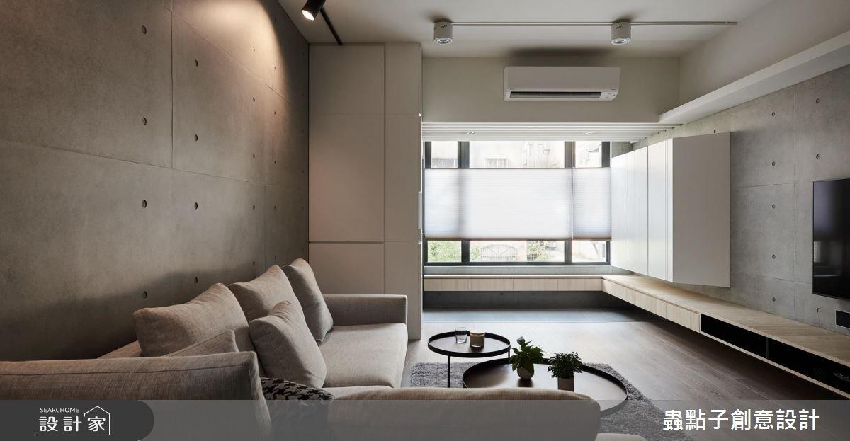 35坪老屋(16~30年)_簡約風客廳案例圖片_蟲點子創意設計_蟲點子_64之4