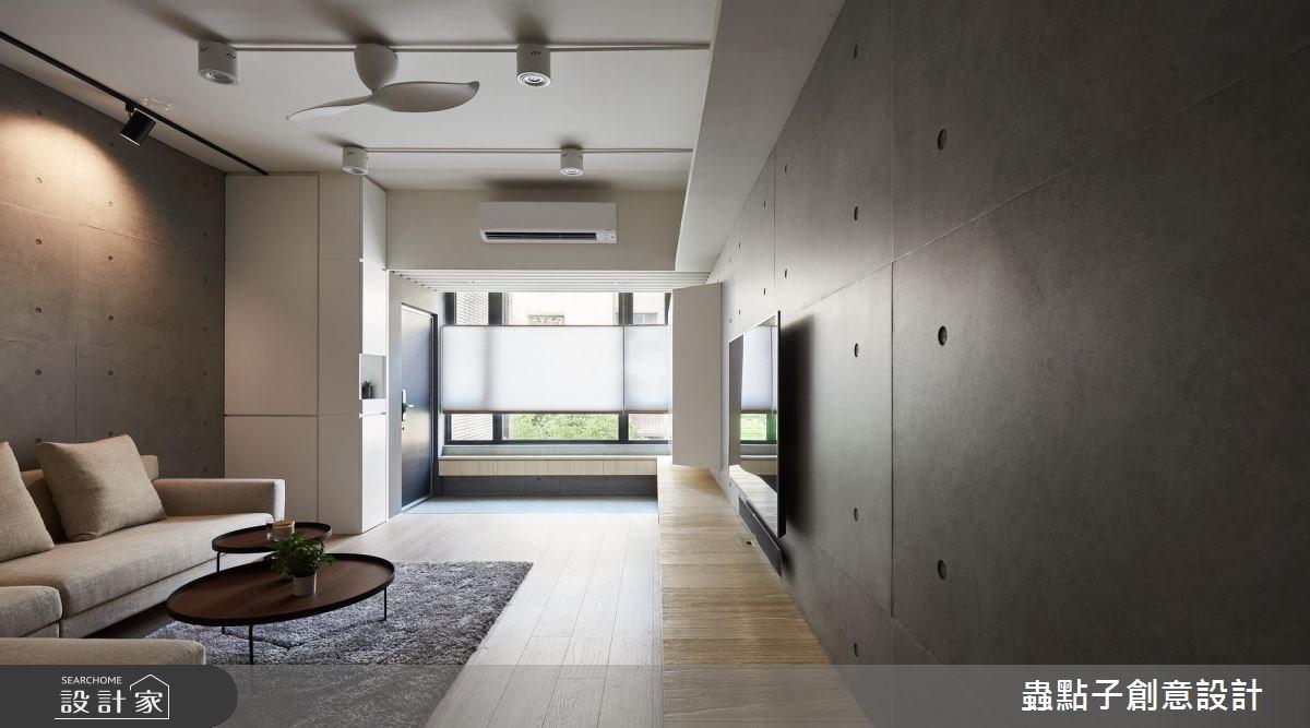 35坪老屋(16~30年)_簡約風客廳案例圖片_蟲點子創意設計_蟲點子_64之5