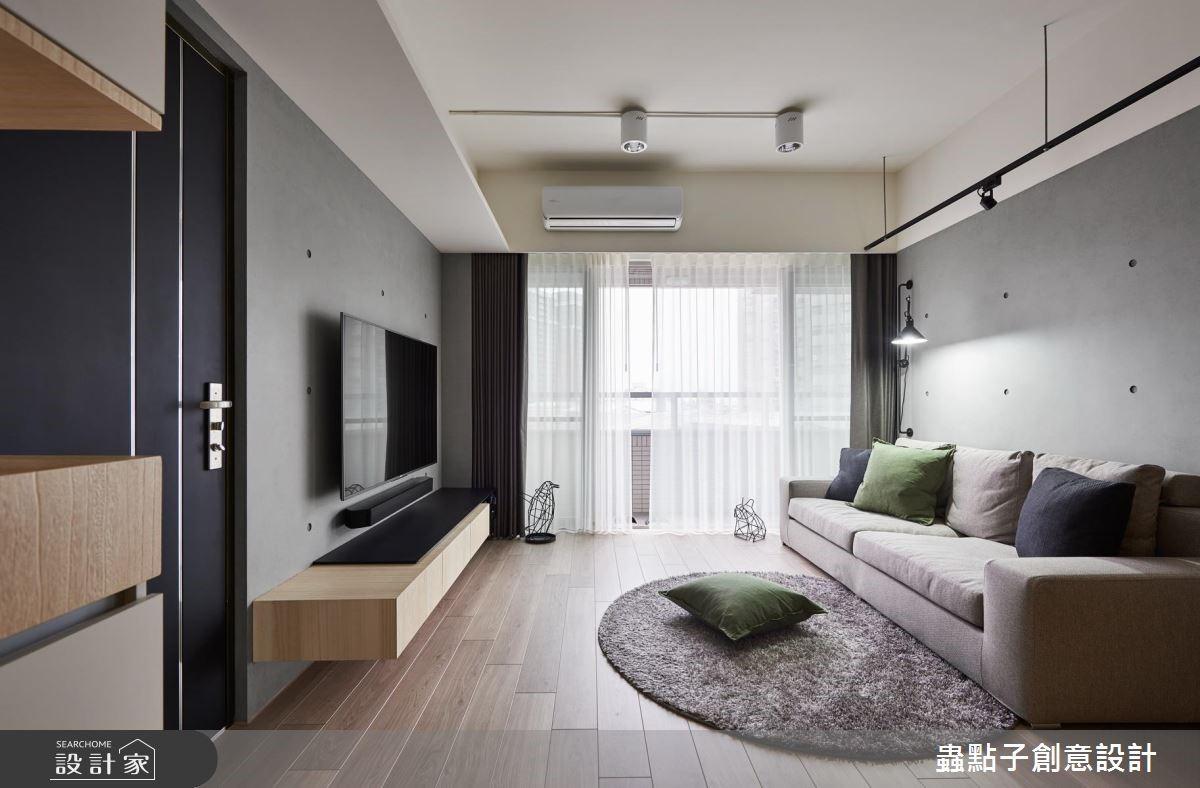 22坪新成屋(5年以下)_簡約風客廳案例圖片_蟲點子創意設計_蟲點子_65之2