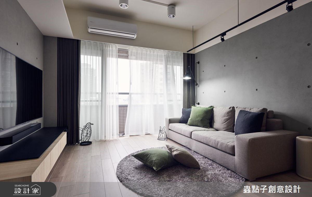 22坪新成屋(5年以下)_簡約風客廳案例圖片_蟲點子創意設計_蟲點子_65之3