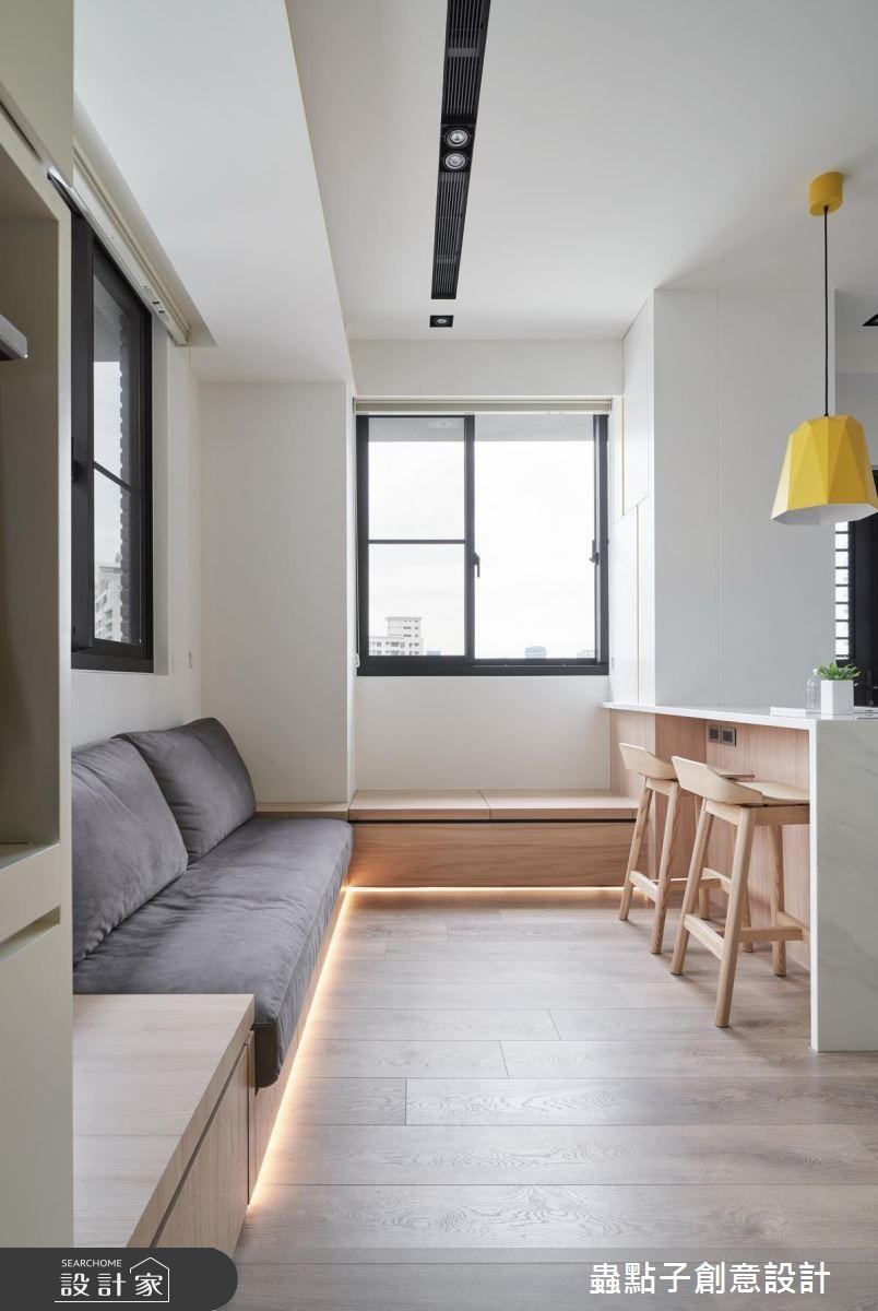 12坪新成屋(5年以下)_北歐風客廳吧檯臥榻案例圖片_蟲點子創意設計_蟲點子_68之3