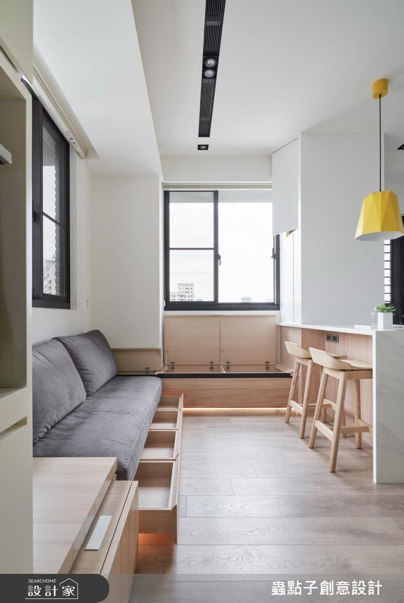 12坪新成屋(5年以下)_北歐風客廳吧檯臥榻案例圖片_蟲點子創意設計_蟲點子_68之4