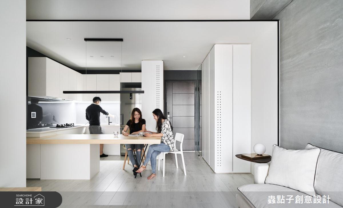 20坪新成屋(5年以下)_簡約風餐廳案例圖片_蟲點子創意設計_蟲點子_76之2