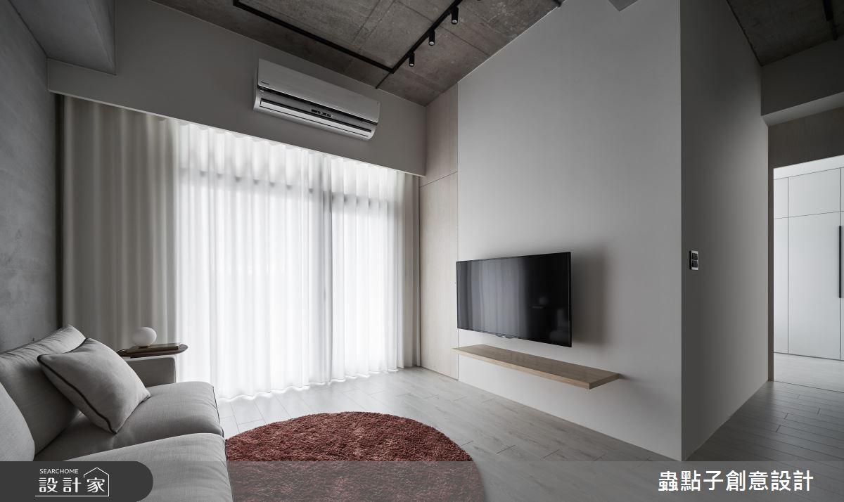20坪新成屋(5年以下)_簡約風客廳案例圖片_蟲點子創意設計_蟲點子_76之4