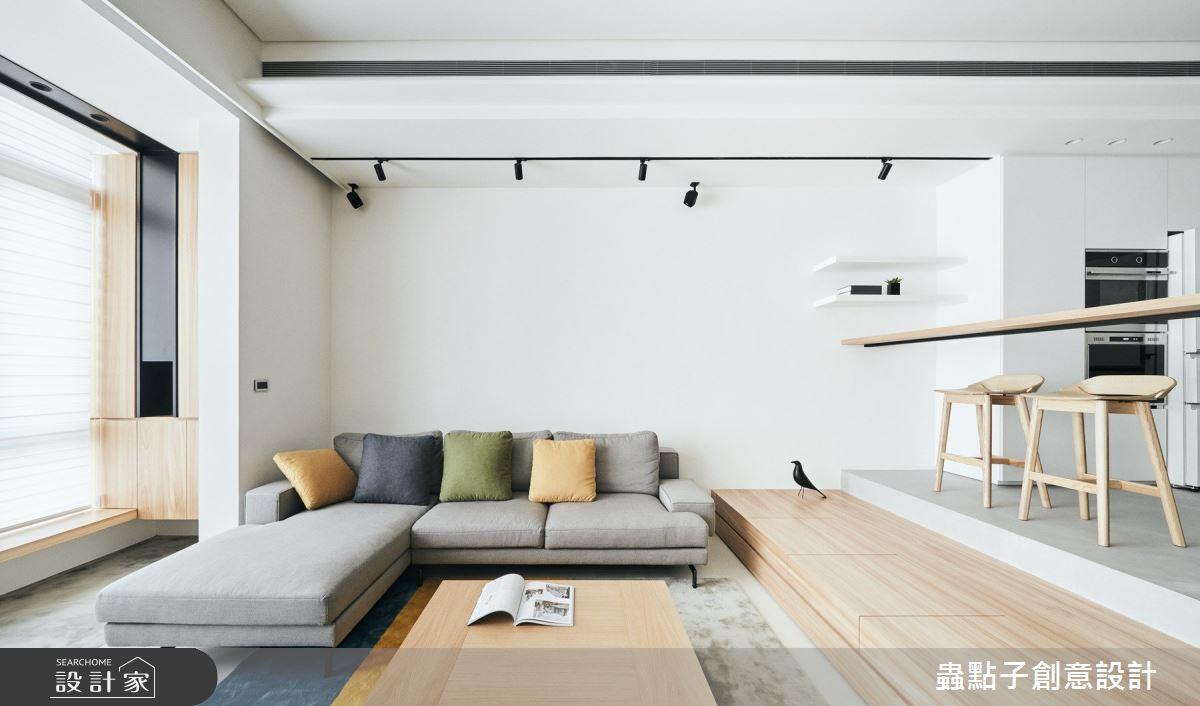 50坪老屋(16~30年)_北歐風客廳案例圖片_蟲點子創意設計_蟲點子_77之3