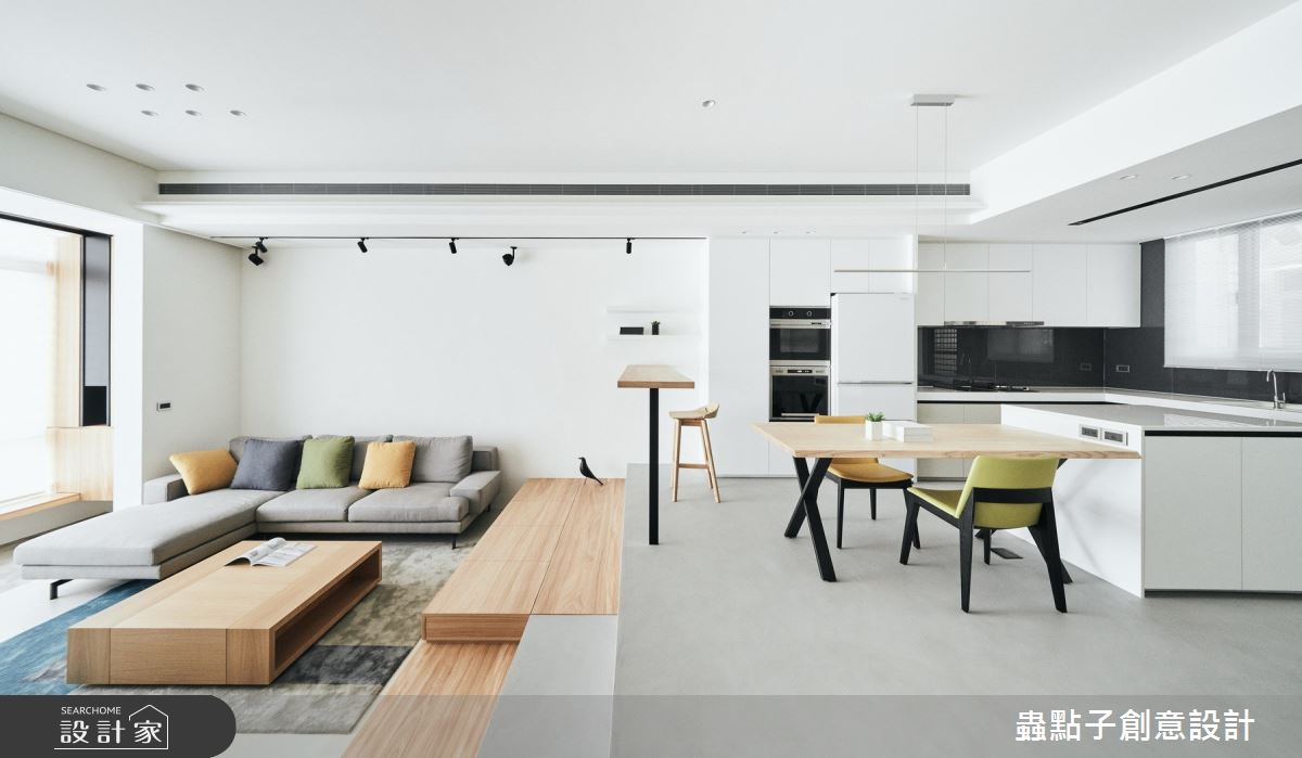 50坪老屋(16~30年)_北歐風客廳餐廳案例圖片_蟲點子創意設計_蟲點子_77之4