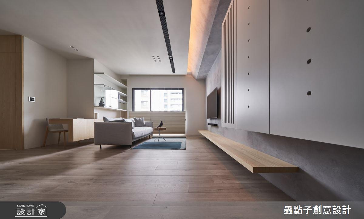 30坪新成屋(5年以下)_簡約風客廳案例圖片_蟲點子創意設計_蟲點子_79之2